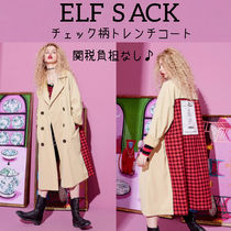 ELF SACK Casual Style Street Style Trench Coats