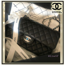 CHANEL TIMELESS CLASSICS Calfskin 2WAY Chain Plain Elegant Style Handbags