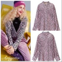 ELF SACK Leopard Patterns Casual Style Chiffon Street Style