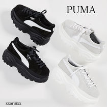 PUMA Platform Round Toe Lace-up Casual Style Suede