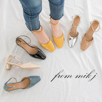 Enamel Plain Block Heels Party Style