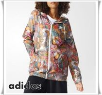adidas Flower Patterns Casual Style Collaboration Medium Outerwear