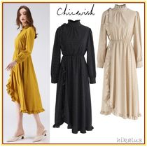 Chicwish Dots Flared Long Sleeves Medium Party Style Dresses