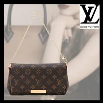 Louis Vuitton MONOGRAM Monogram Bag in Bag 2WAY Chain Leather Party Style