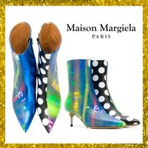 Maison Martin Margiela Stripes Dots Street Style Leather Pin Heels Party Style