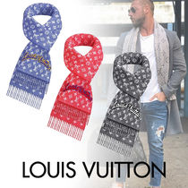 Louis Vuitton MONOGRAM Monogram Wool Blended Fabrics Street Style Fringes Scarves
