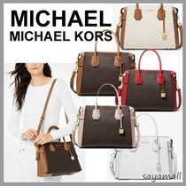 Michael Kors MERCER Monogram Blended Fabrics 2WAY Bi-color PVC Clothing