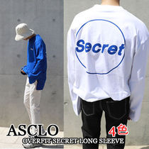 ASCLO Pullovers Unisex Street Style Long Sleeves Oversized