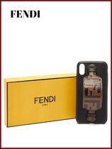 FENDI Unisex Street Style Leather Smart Phone Cases