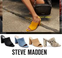 Steve Madden Open Toe Street Style Plain Pin Heels Heeled Sandals