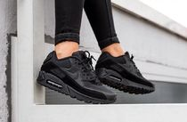 Nike AIR MAX 90 Suede Street Style Plain Low-Top Sneakers
