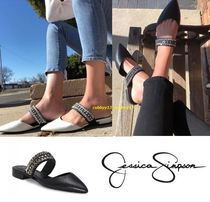 Jessica Simpson Casual Style Street Style Plain Leather Sandals Sandal