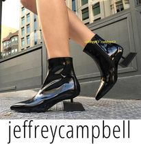 Jeffrey Campbell Platform Round Toe Casual Style Street Style Plain Leather