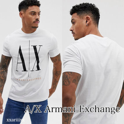 Crew Neck Street Style Plain Cotton Short Sleeves. A X Armani Exchange c8580bac74728