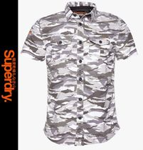 Superdry Camouflage Street Style Short Sleeves Shirts