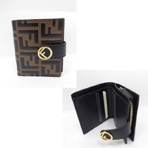 FENDI Monogram Street Style Folding Wallets