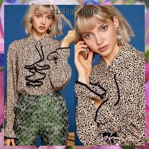 Sister Jane Leopard Patterns Casual Style Long Sleeves Shirts & Blouses
