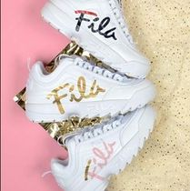 FILA Platform Casual Style Street Style Low-Top Sneakers
