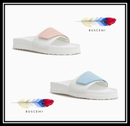 Casual Style Plain Leather Footbed Sandals Flat Sandals