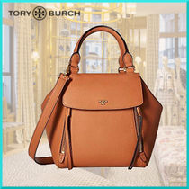 Tory Burch 2WAY Plain Leather Office Style Handbags