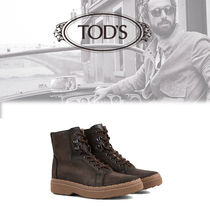 TOD'S Sheepskin Plain Engineer Boots