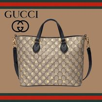 GUCCI Monogram A4 Other Animal Patterns Totes