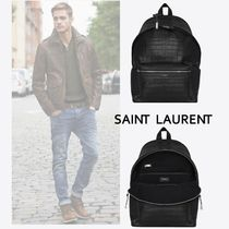 Saint Laurent Crocodile A4 Other Animal Patterns Backpacks