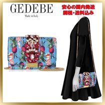GEDEBE Chain Leather With Jewels Elegant Style Shoulder Bags