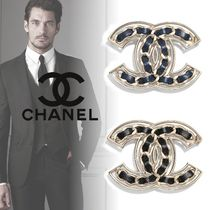 CHANEL Unisex Blended Fabrics Plain Metal Watches & Jewelry