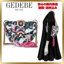 GEDEBE Flower Patterns Chain Leather With Jewels Elegant Style