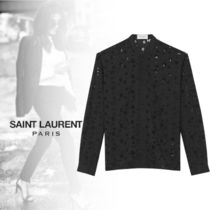 Saint Laurent Star Casual Style Wool Long Sleeves Shirts & Blouses