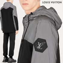 Louis Vuitton Unisex Blended Fabrics Street Style Bi-color Long Sleeves