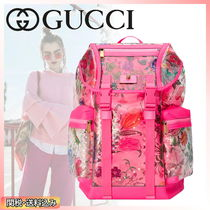 GUCCI Flower Patterns Casual Style Street Style PVC Clothing
