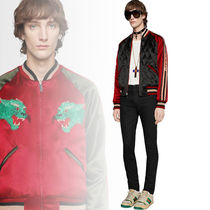 GUCCI Short Unisex Street Style Other Animal Patterns