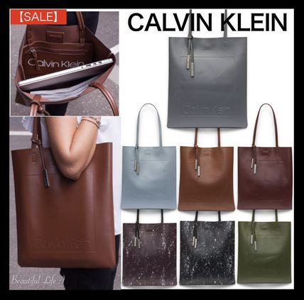Unisex A4 Plain Office Style Totes