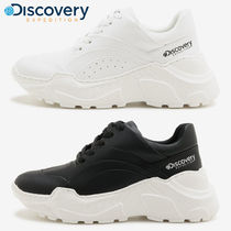 Discovery EXPEDITION Unisex Street Style Plain Leather Oversized Sneakers