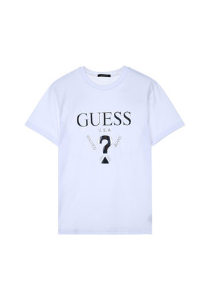 Guess More T-Shirts Unisex Street Style U-Neck Plain Cotton Short Sleeves 3