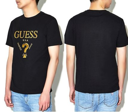 Guess More T-Shirts Unisex Street Style U-Neck Plain Cotton Short Sleeves 15
