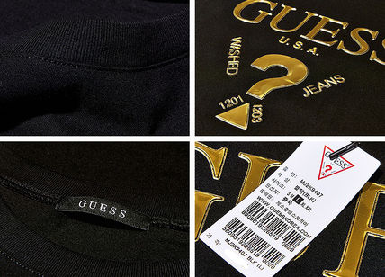 Guess More T-Shirts Unisex Street Style U-Neck Plain Cotton Short Sleeves 16