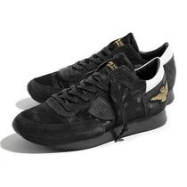 PHILIPPE MODEL PARIS Camouflage Suede Street Style Sneakers