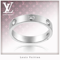 Louis Vuitton Unisex Platinum Rings
