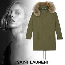 Saint Laurent Casual Style Plain Long Parkas
