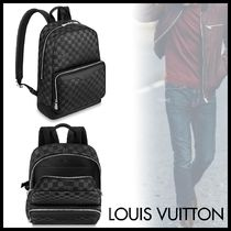 Louis Vuitton DAMIER INFINI Other Check Patterns Unisex Blended Fabrics Street Style A4