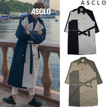 ASCLO Street Style Collaboration Plain Long Oversized Trench Coats