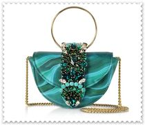 GEDEBE Chain Leather With Jewels Elegant Style Crossbody