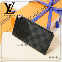 Louis Vuitton DAMIER GRAPHITE Monogram Unisex Canvas Coin Cases