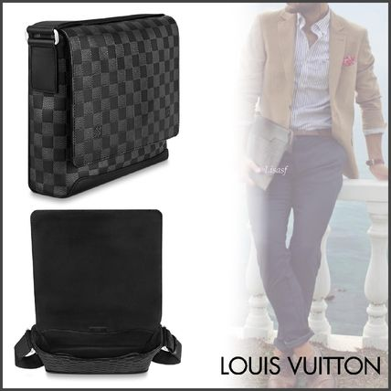 Louis Vuitton Messenger & Shoulder Bags Other Check Patterns Unisex Blended Fabrics Street Style