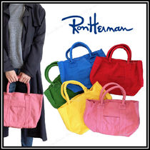 Ron Herman Casual Style Unisex Canvas Bi-color Totes