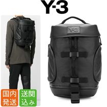 Y-3 Street Style Collaboration Plain Backpacks