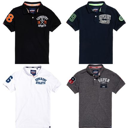 Street Style Short Sleeves Logos on the Sleeves Polos